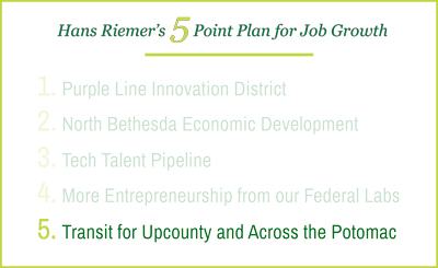 Hans Riemer's 5 Point Plan for Economic Growth